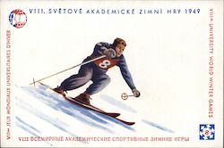Czeckoslovakian University Games 1949 Postcard