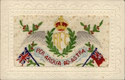 Royal Flying Corps Embroidered Silk