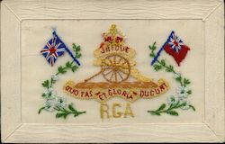 Embroidered Silk Flags RGA Royal Garrison Artillery