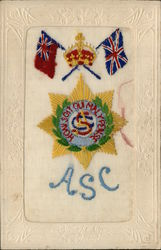 Embroidered Silk ASC  Army Service Corps