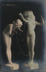 Nudes & Chain Real Photo Hand-Tinted