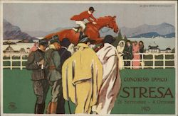 Deco Jockey on Horse Italy Race 1925