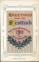 Scottish Exhibition 1908 Woven Silk