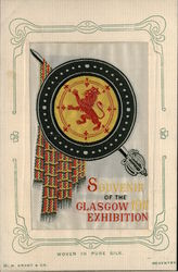 Lion Glasgow Exhibition 1911 Woven Silk