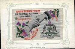 Glasgow Exhibition 1911 Woven Silk
