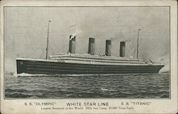 White Star Line Titanic Olympic Pre-Sinking