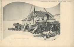 Polar Exploration Assembling Gas Expedition Andree 1897