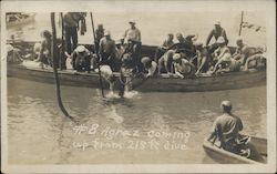1915 Naval Diver Jack Agraz USS F-4 Submarine Disaster Hawaii Postcard