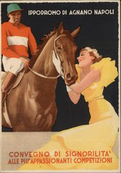 Jockey on Horse Art Deco Woman