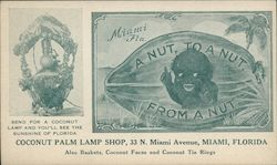 Coconut Palm Lamp Shop Black Child on Coconut Advert