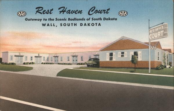 Rest Haven Court, Gateway to the Scenic Badlands of South Dakota Wall