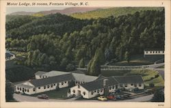 Fontana Motor Lodge Postcard