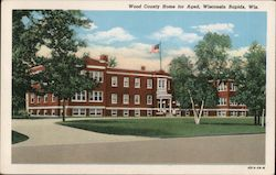 Wood County Home for Aged Postcard