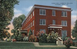 Dormitory at Lambuth College Postcard
