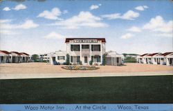 Waco Motor Inn, At the Circle Postcard