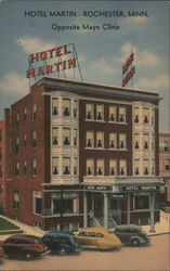 Hotel Martin, Opposite Mayo Clinic Postcard