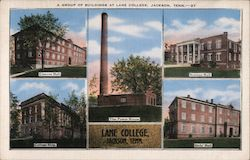 A Group of Buildings at Lane College Postcard