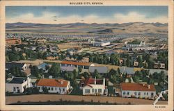 View of Boulder City Postcard