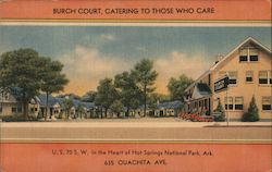 Burch Court, Hot Springs National Park Postcard