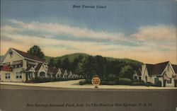 Best Tourist Court, Hot Springs National Park Postcard
