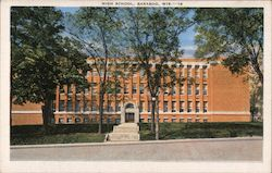 High School, Baraboo, Wis. Postcard