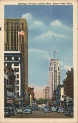 Michigan Avenue Looking West Postcard
