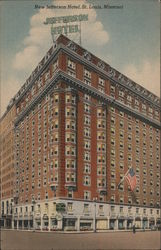New Jefferson Hotel Postcard