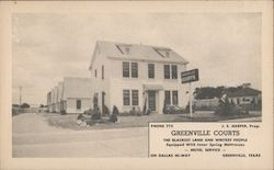 Greenville Courts Postcard