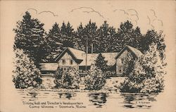 Dining Hall and Director's Headquarters Camp Winona Postcard