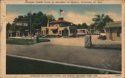 Oaklawn Tourist Court on Broadway of America, Hot Springs National Park Postcard