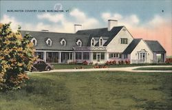 Burlington Country Club Postcard