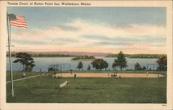 Tennis Court at Butter Point Inn Postcard