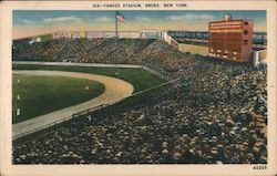 "Yankee Stadium, Bronx, New York, Home of the New York American League Baseball Team Known As The ""Yankers"" Postcard"
