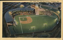 Night View, Red Bird Stadium Postcard