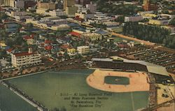 Al Lang Baseball Field and Main Business Section Postcard