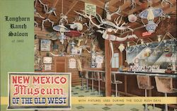Longhron Ranch Saloon of 1866 - New Mexico Museum of the Old West Postcard