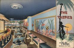 The Tropics Cocktail Lounge, Hotel Phillips Postcard