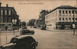 Corner Main and Court St., Circleville Postcard