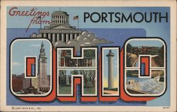 Greetings from Portsmouth, Ohio Postcard