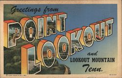 Greetings from Point Lookout and Lookout Mountain Tenn Postcard