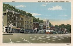 Main Street and Parking Ground Postcard