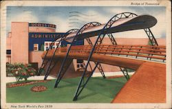 Bridge of Tomorrow - New York World's Fair Postcard