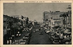 Kings Highway at 16th Street Postcard