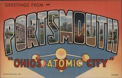 Greetins from Portsmouth - Ohio's Atomic City Postcard
