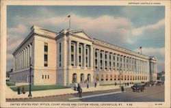 United States Post Office, Court House and Custom House Postcard