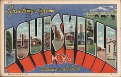 Greetings From Louisville KY Postcard