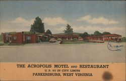 The Acropolis Motel and Restaurant Postcard
