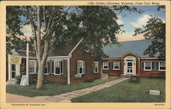 Public Libraries, Cape Cod Postcard