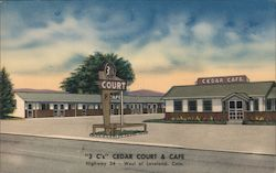 """3 C's"" Cedar Court & Cafe Postcard"