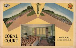Coral Court on U.S. 301 Postcard